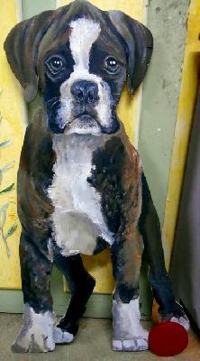 Lit pour chiens poufs chiens et chats tableaux chiens et chats animaux en trompe l 39 oeil for Peindre des palettes