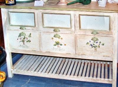 Buffets peints enfilades peintes meubles peints for Meubles provencaux