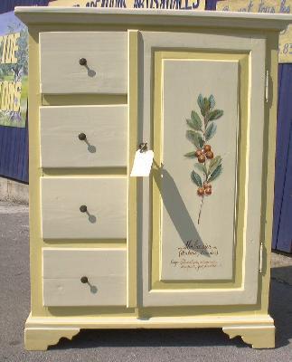 Relooking meubles artisan d art meuble peint cr ation d - Photos de meubles repeints ...