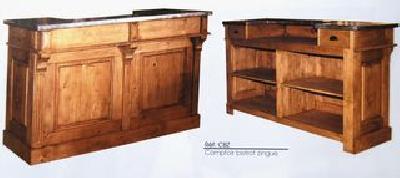 comptoir de bar billot ilot central copie commode louis xv meubles de salle de bain vaisselier. Black Bedroom Furniture Sets. Home Design Ideas